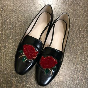 ZARA Loafers with a Rose detail
